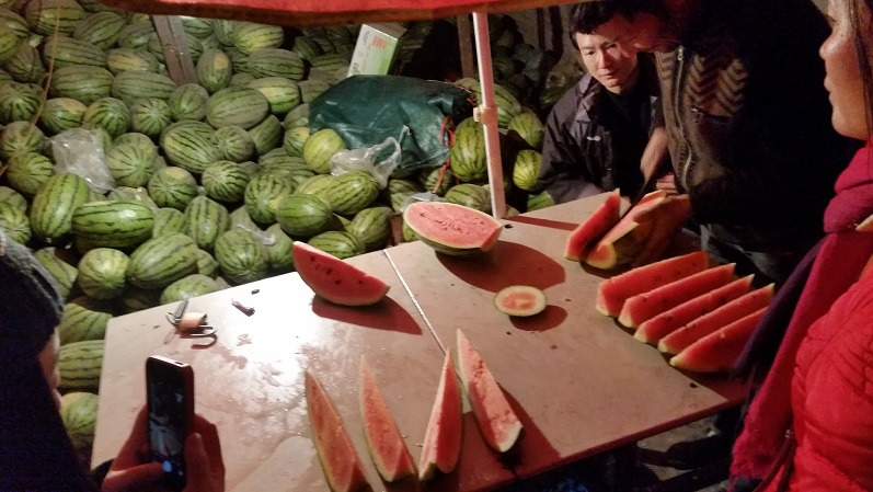 Found a lot of delicious watermelons in Turpan