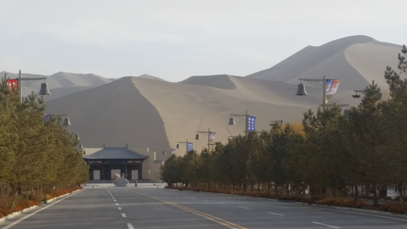 On the road to Mingshashan (singing sand mountain)