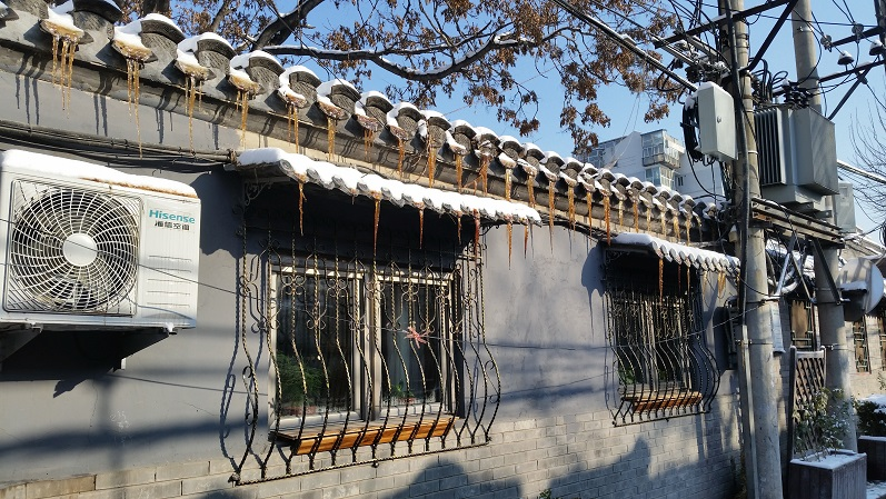 Dirty icicles in Beijing