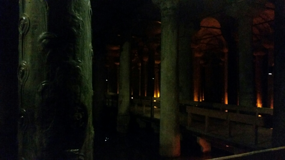 Wandering through the Basilica Cistern
